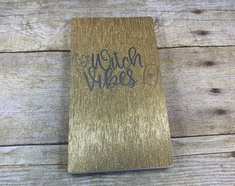 Gold and silver shimmer witch vibes journal, tarot journal, pagan journal, wiccan journal, occult journal, witchcraft journal, witch journal