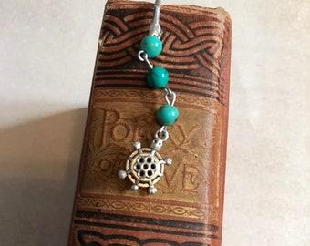 Stone turtle bookmark, sea creature bookmark, tortoise gift