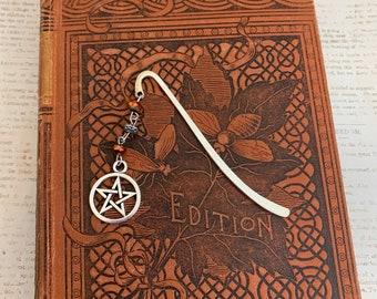 Copper and silver pentacle bookmark, occult bookmark, wiccan bookmark, witch bookmark, witchcraft bookmark, book of shadows bookmark