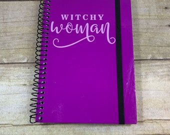 Purple witchy woman journal, witchy woman notebook, witchy woman journal, pagan notebook, wiccan notebook, witch journal, pagan journal