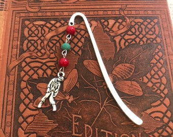 Red and green zombie bookmark, outbreak bookmark, apocalypse bookmark, reanimated bookmark, corpse bookmark, horror bookmark