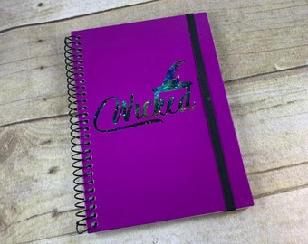 Purple space wicked journal, witch journal, pagan journal, wiccan journal, witchy journal, occult journal, book of shadows, galaxy journal