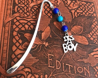 Blue its a boy gender reveal bookmarks, pregnancy announcement, unique gender reveal
