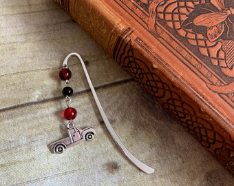 red and black truck bookmark, mechanic bookmark, pick up bookmark, pick up bookmark, 4x4 bookmark, truck gift