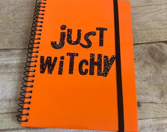 Rainbow just witchy notebook, pagan notebook, book of shadows, wiccan note book, occult notebook, witch journal, witch diary, pagan diary