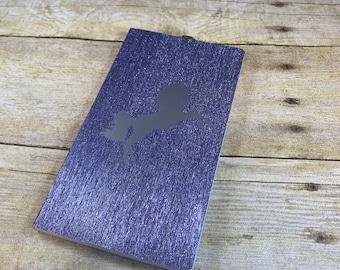 Silver and purple shimmer unicorn journal, unicorn notebook, fantasy journal, glitter journal, unicorn gift, unique journal, unicorn diary
