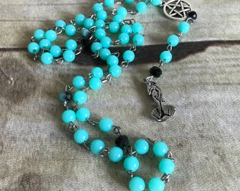 Venus pagan rosary, Aphrodite pagan rosary, goddess jewelry, pagan necklace, wiccan gift, handmade, one of a kind