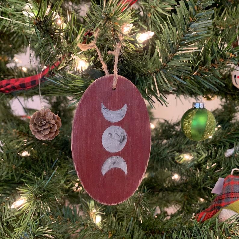wiccan ornament triple moon ornament pagan ornament witch ornament Moon phase ornament altar hanging lunar ornament