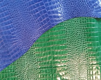 Croco embossed calf leather