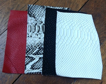 leather scraps snake &graine