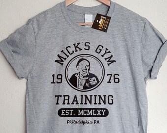 Rocky Inspired Mick s Gym Mens T-Shirt - Retro 70s 80s Classic Boxing Film  Tee - Mens   Ladies Styles - Movie tshirts db5e72db2