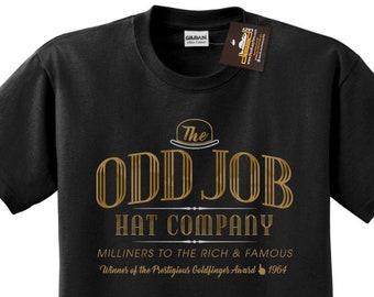 dfea81576 Odd Job Hat Company T-shirt - James Bond Inspired Goldfinger Tee Retro Film  NEW - Mens & Ladies Styles - Movie tshirts