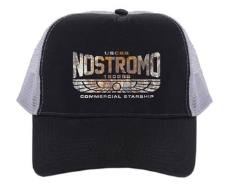 Nostromo Trucker Style Snap Back Cap - Inspired by Alien Sci Fi Film Movie  - Printed Hat d9123a28364