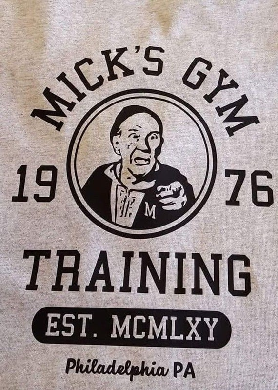Rocky Inspired Mick/'s Gym Mens T-Shirt Retro 70s 80s Classic Boxing Film Tee