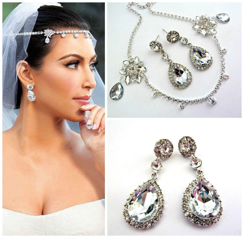 Kim Kardashian Wedding Hairstyles: SALE Kim Kardashian Set Forehead Jewelry & Bridal Wedding