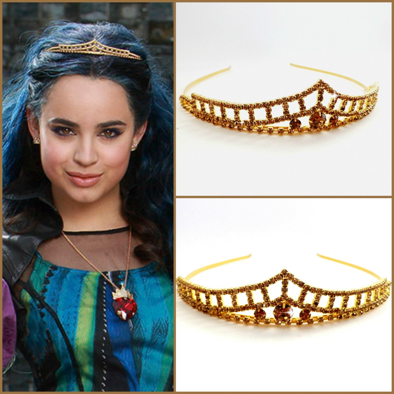 Disney Descendants Crown, Evie Descendants Tiara , Evie Headpiece , Evie  costume,Descendants Headpiece ,Evie Gold Tiara ,Evie Gold Crown