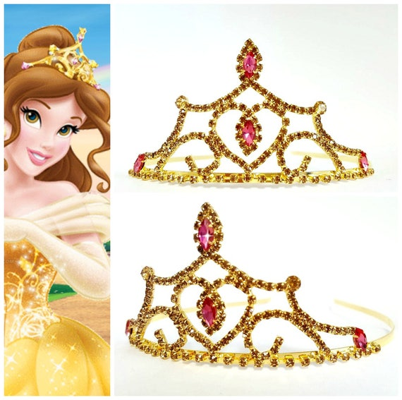 The Beauty And The Beast Belle Crown PRINCESS BELLE CROWN Halloween Costume Princess Belle Birthday Tiara Princess Belle Birthday Crown
