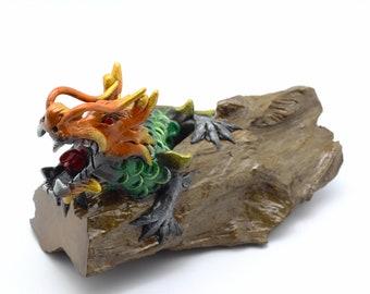 Teak Dragon Sculptures