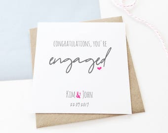 personalised engagement card personalised card celebration card congratulations card engagement card love card - Engagement Cards