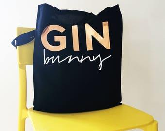 Gin Bunny Tote Bag, Gym tote, Shopping Bag, Eco Bag, Gym Bunny Tote, Gin  Lover Gift, Gift for Her, Gift for Friend, Funny Tote Bag, Gin Gift cee114286c