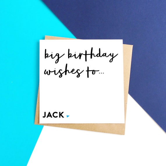 Personalised Wishes Birthday Card