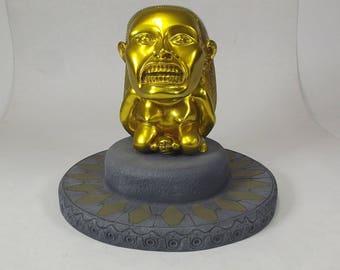 Indiana Jones Chrome Gold Fertility Idol with Base Prop