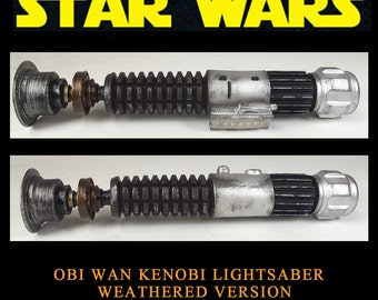 Star Wars Lightsaber Obi Wan Kenobi Weathered Version Prop Resin