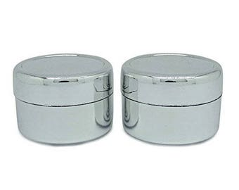 15 Gram Plastic Silver Jars, Empty Cosmetic Storage Containers, Refillable  Lip Balm Solid Perfume Jar, Wholesale Jars BOT49A