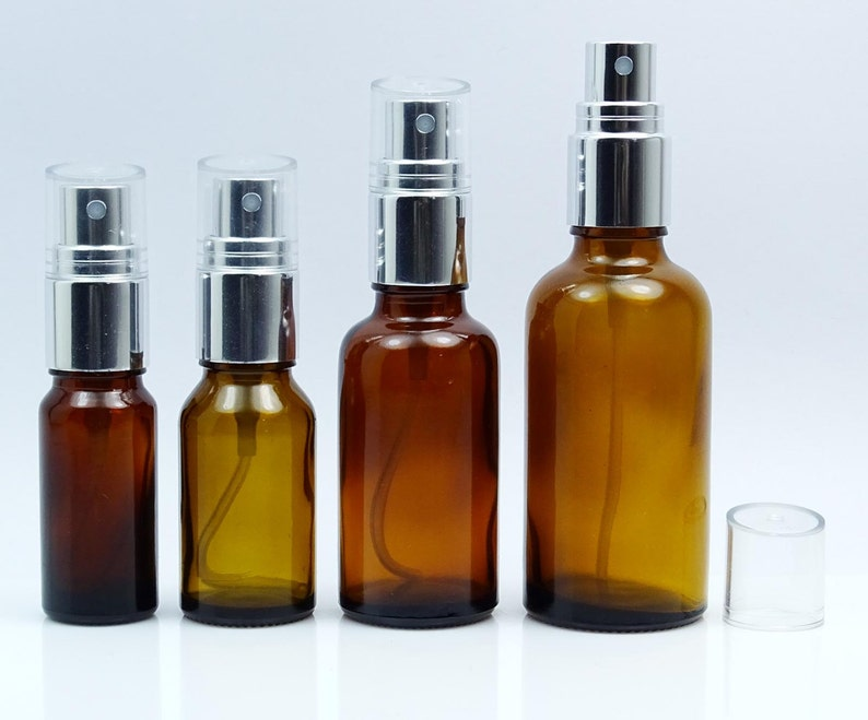 d2276435ab4a 50 Pcs Refillable Essential Oil Perfume Spray Bottles Empty Amber Glass  Bottles, Wholesale Boston Round Atomizer BOT138-PAR-L50