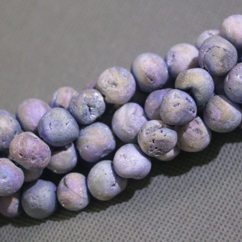 2Strandslot Natural Semi-precious Stone Titanium Brown Purple Blue Orange Beads DIY Necklace Bracelet Freeform Agate Beads