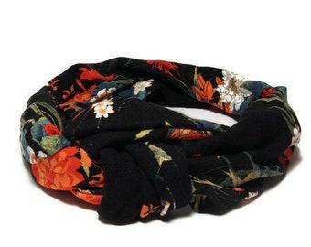 headband tie floral headwrap, turban tie, scarf, floral headband turban headband