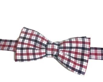 bowtie gingham bowtie bow tie Plaid man bow tie wedding gift dad gift