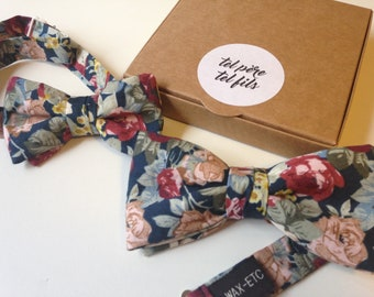 Kid bow tie adult bowtie liberty, flowers, floral, BowTie father his bowtie BowTie, father and son, Dad gift