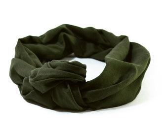 tie headband Khaki, headwrap, turban tie headband, turban headband khaki scarf