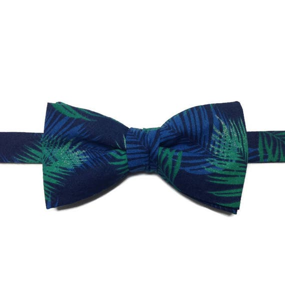 Noeud Papillon Tropical Bleu Vert Bowtie Noeud Papillon Exotique Cadeau Homme Nœud Papillon Mariage Cadeau Papa