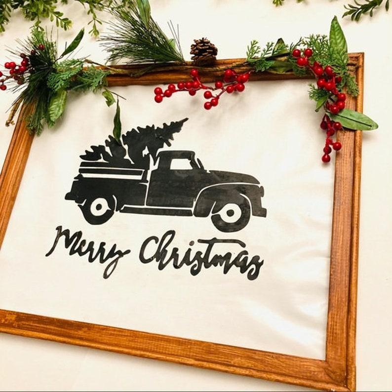 Merry Christmas wall decor w truck /& tree custom