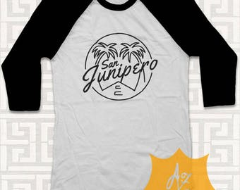 735c6d5df San Junipero Shirt San Junipero TShirt Black Mirror 3/4 Shirt Raglan San  Junipero Shirt For Men and Women Adult Unisex MB004