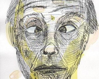 Jack 1 - Watercolour and pen on watercolour paper