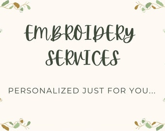 Embroidery Services/Monogrammed Services/Wedding Embroidery Services/Embroidered Sports/Embroidered Backpack/Embroidered Denim Jackets/NY