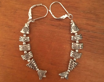 Greek worry fish earrings