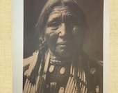 Sioux Indian Woman Native American Photo Indian Spirit Print Vintage Native American Edward Curtis Plains Indian Photo Witch Crone Pagan