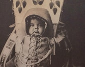 Baby Vintage Native American Print Edward Curtis Photo Mother Gift Indian Child Nez Perce Plains Papoose Sepia Wicca Pagan Gypsy Baby Gift