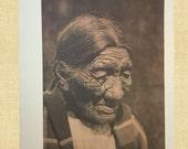 Elder Cheyenne Indian Warrior Native American Photo Indian Spirit Print Vintage Native American Curtis Plains Indian Photo Pagan Wall Art