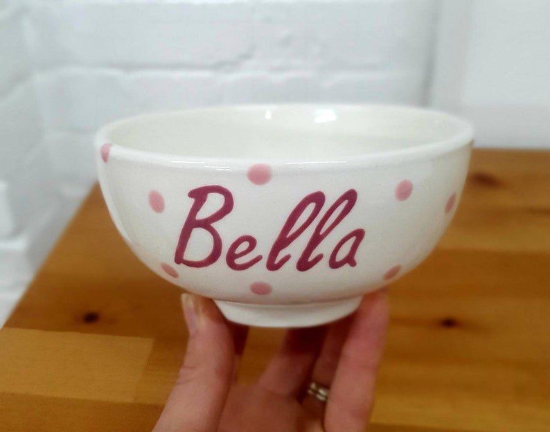 Cereal Bowl Hand Painted Ceramic Bowl Personalised Breakfast Bowl Personalised Gift Soup Bowl Create Your Own Custom Colours