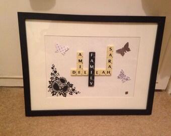 Personalised Family Scrabble Art