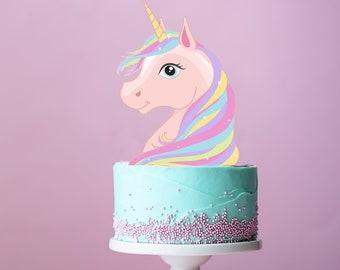 Unicorn cake topper | Etsy