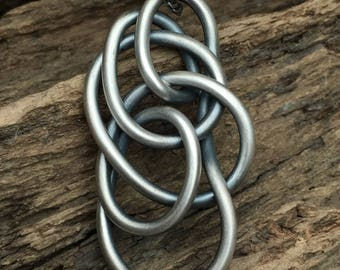 """Freeform Heavy Sterling Silver """"Tangle"""" Pendant // free form // handmade // wire jewelry"""