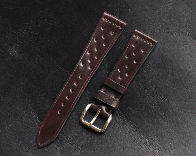 Color #8 Horween Shell Cordovan Rally watch band
