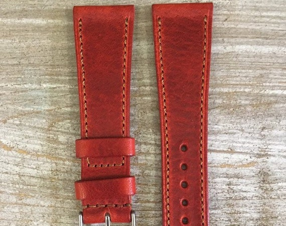 Classic Italian Calf watch band - Cherry Burl