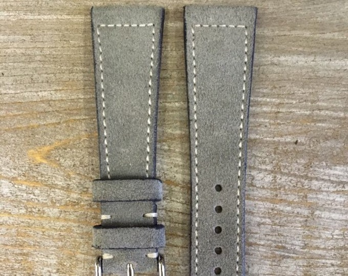 Classic Italian Suede watch strap - 7 colors